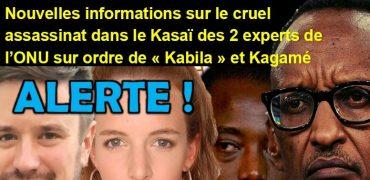 visuel à lire alerte kabila et kagame ont fait assassiner les 2 experts de l'ONU