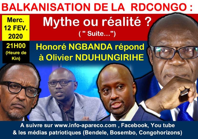 Visuel Balkanisation de la RDC réponse d'Honoré Ngbanda