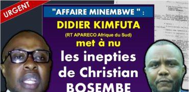 Didier Kimfuta répond à Christian Bosembe