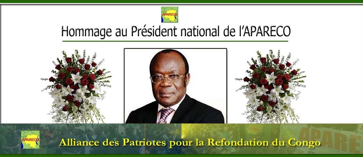 Hommage au Président national de l'APARECO