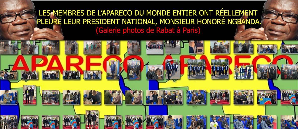 LES MEMBRES DE L'APARECO DU MONDE ENTIER ONT RÉELLEMENT PLEURÉ LEUR PRESIDENT NATIONAL, MONSIEUR HONORÉ NGBANDA.