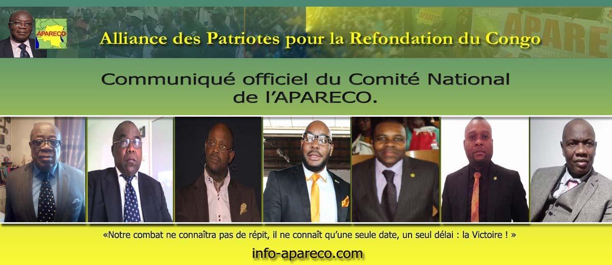 Communiqué officiel du Comité National de l'APARECO