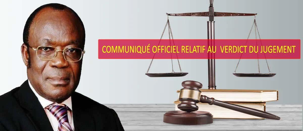 Bannière Verdict du jugement